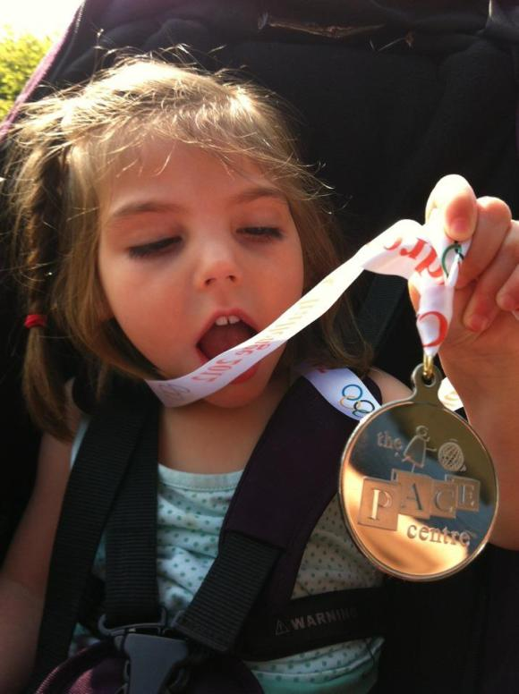 Isobel gets an Olympic medal